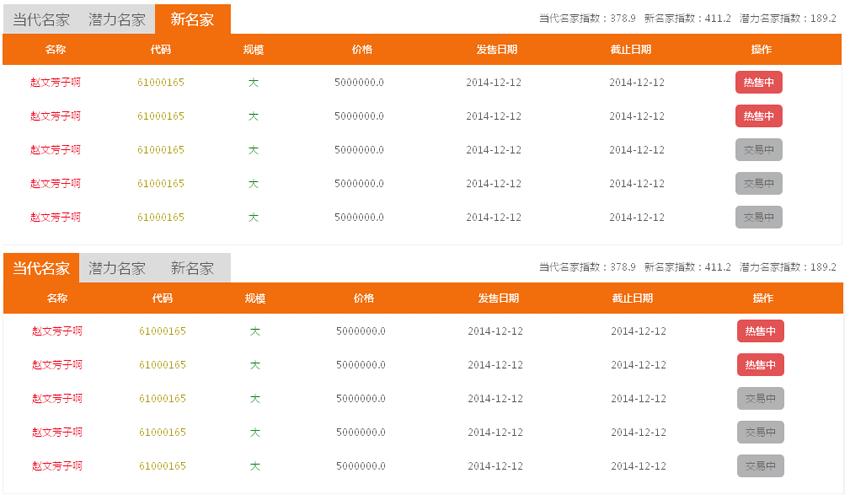jQuery滑动选项卡多个tab切换插件演示