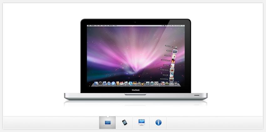 jQuery仿苹果官网点击图标选项卡图片滑动切换效果代码