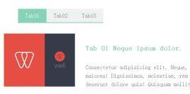 jquery清新的Tab菜单上下滑动选项卡切换代码