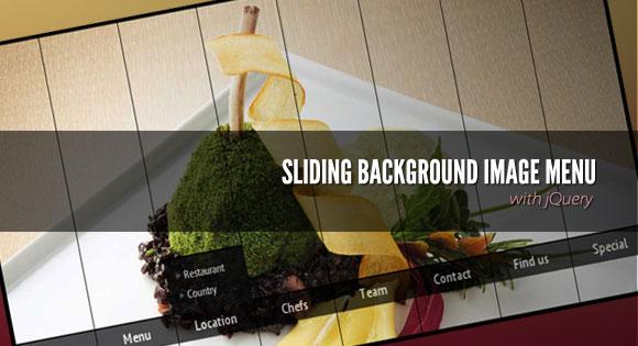jquery鼠标滑过导航条菜单滑动显示图片百叶窗切换