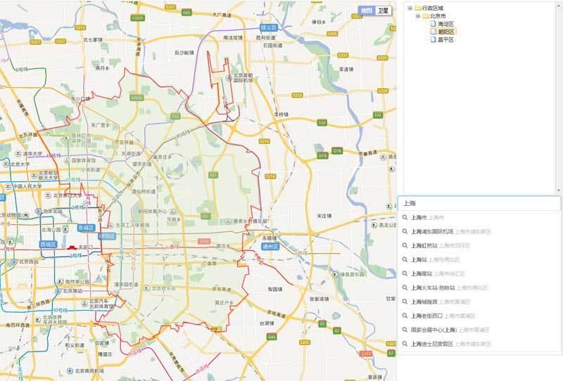 jQuery百度地图API搜索定位地区插件