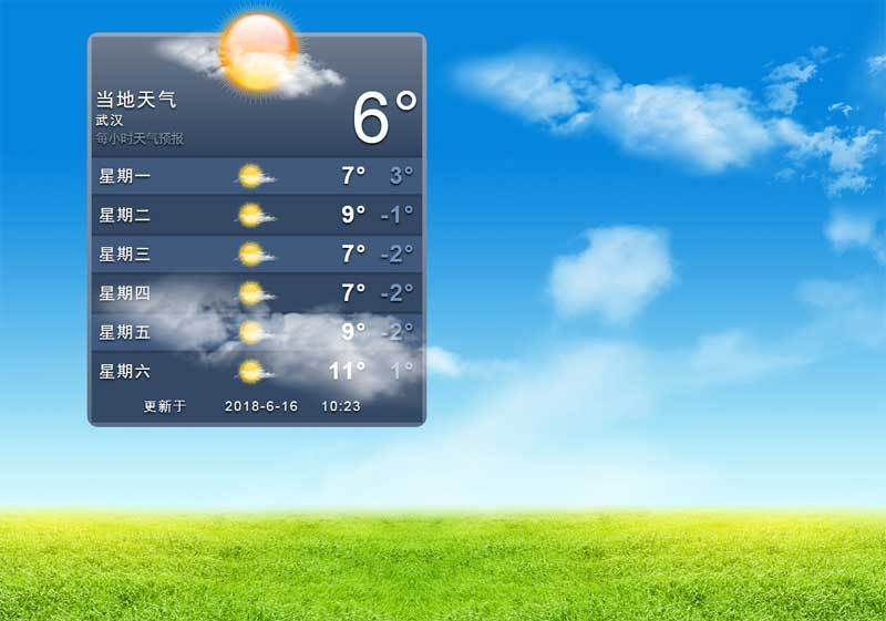 jQuery仿苹果天气预报界面代码