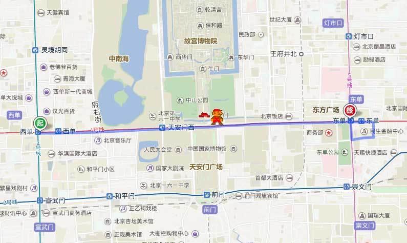 百度地图API导航记录轨迹标记代码